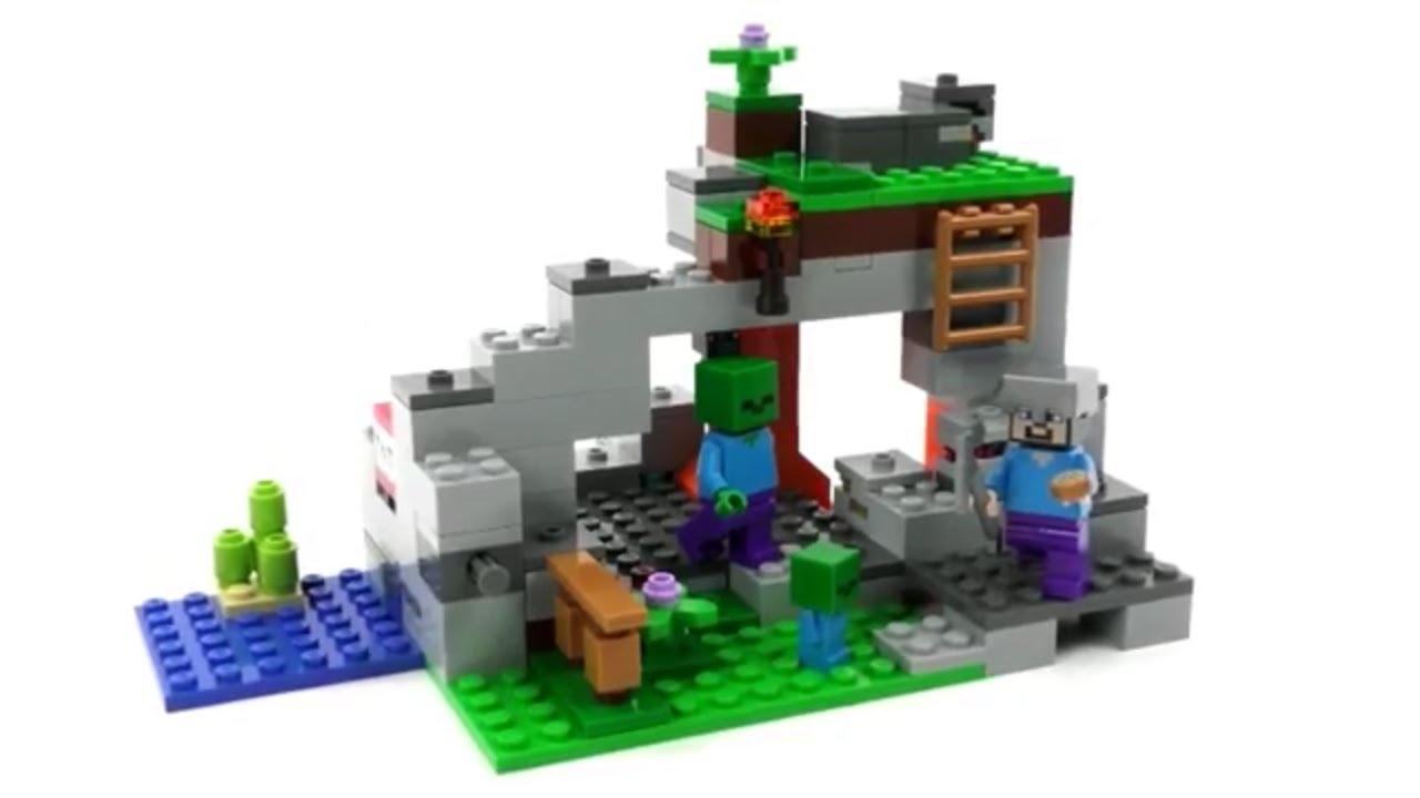 Lego Minecraft 2018 Set 21141 Zombiehöhle Unboxing Review Deutsch