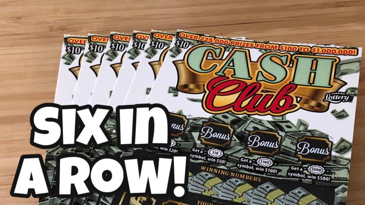 Six in a row! | 6 x $10 ~ Cash Club
