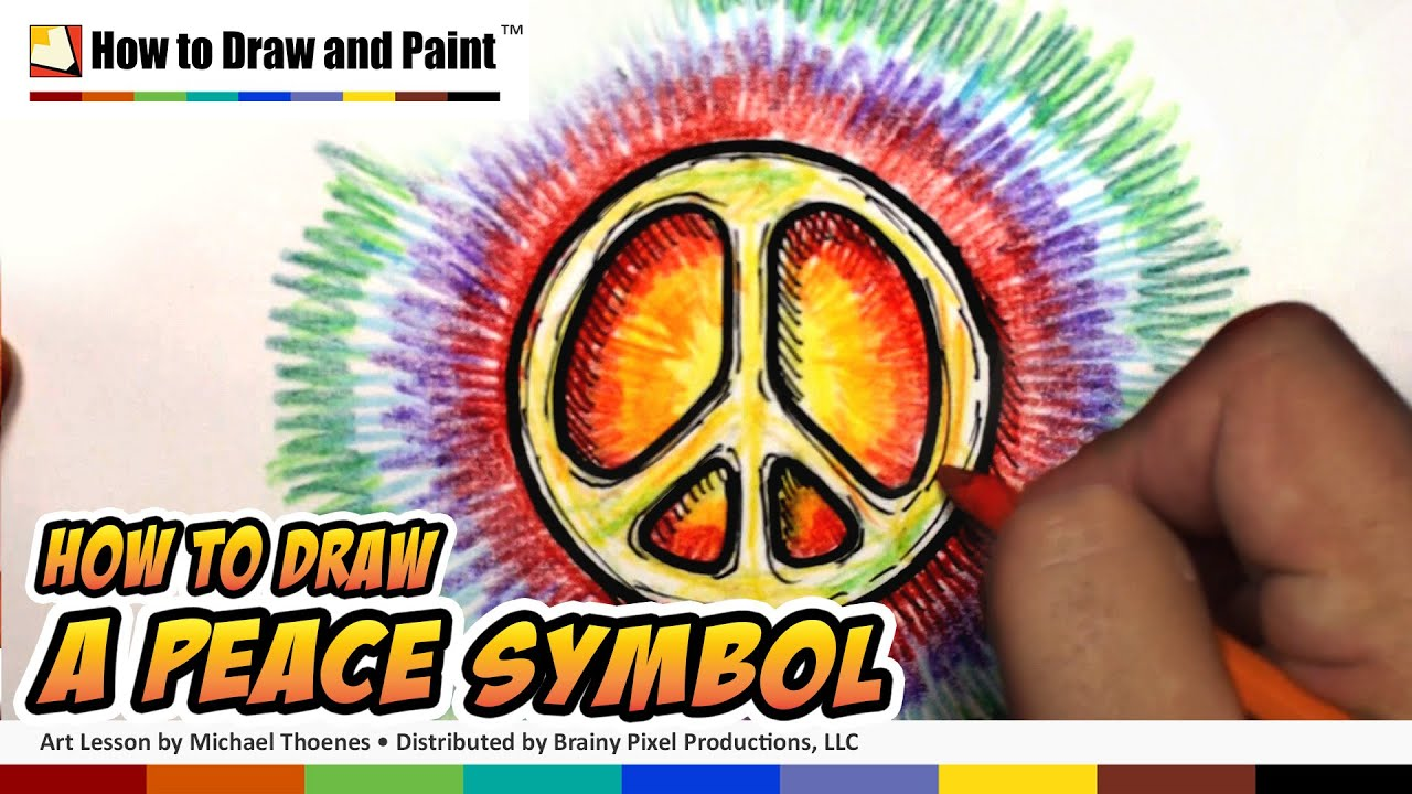 How To Draw A Peace Symbol Art For Kids Mat Youtube