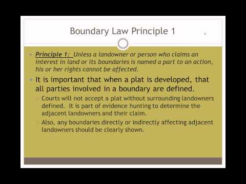 Principles of Boundary Law