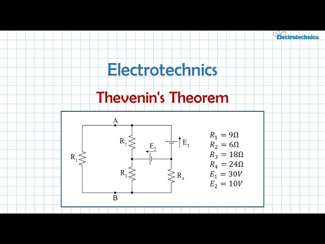 Electrotechnics #5 Thevenin's Theorem and its application