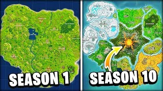 Evolution Of The Entire Fortnite Island! (Season 1-10)