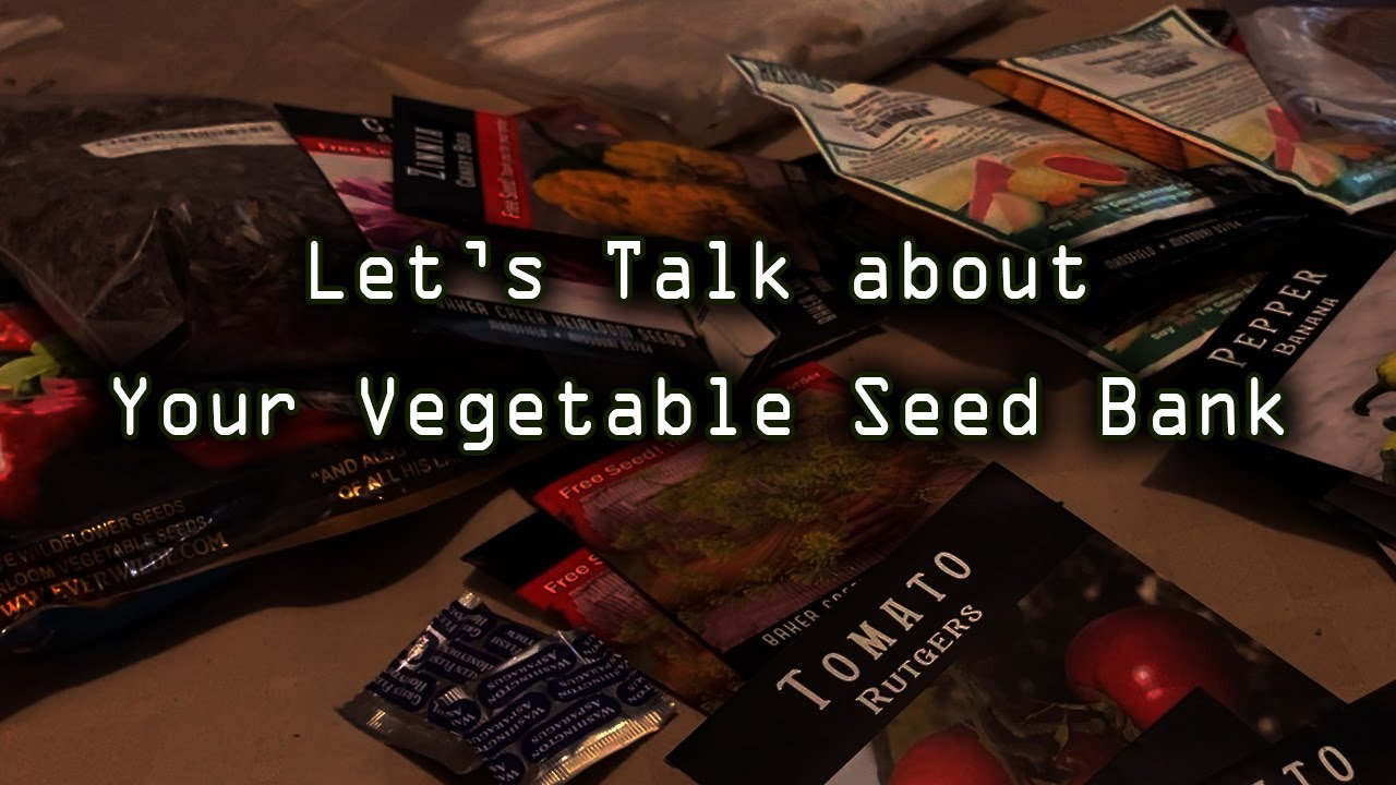 Things are getting Serious - Let's Talk about Your Seed Bank