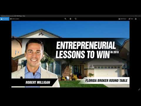 Entrepreneurial Lessons to Win in 2018 - Florida Broker