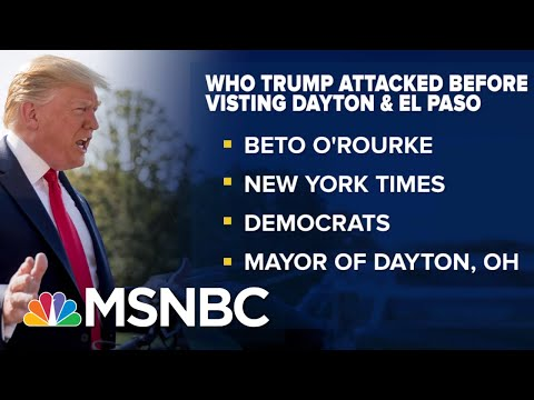 Grieving Victims Tell Trump To Stay Away After Shootings | The Beat With Ari Melber | MSNBC
