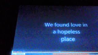 Rihanna (We found love)-piano version-karaoke cover