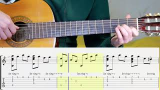 Godfather Theme. Guitar. Notes. Tabs. Lesson.