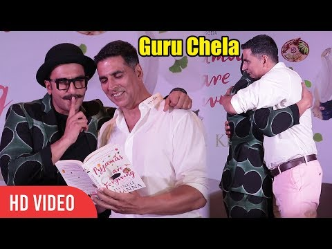 Guru Chela Ranveer Singh And Akshay Kumar at Twinkle Khanna's Pyjamas Are Forgiving Book Launch
