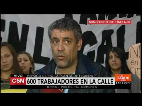 600 trabajadores en la calle por el cierre de Pepsico
