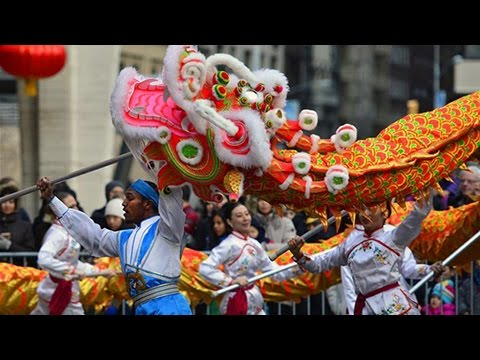 2016 Chinese New Year Parade in New York(纽约法拉盛新年花车 …