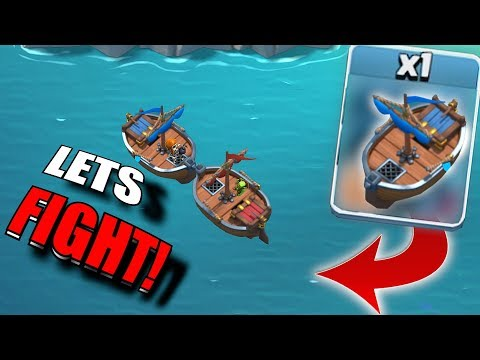 """BOAT FIGHT!! """"Clash Of Clans"""" NEW CHALLENGE!!"""
