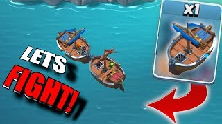 "BOAT FIGHT!! ""Clash Of Clans"" NEW CHALLENGE!!"