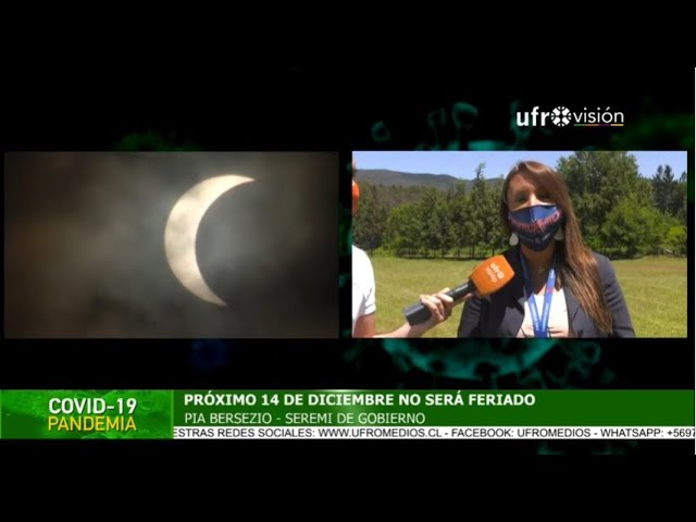 Eclipse 2020: 14 de diciembre no será feriado | ESPECIAL COVID-19