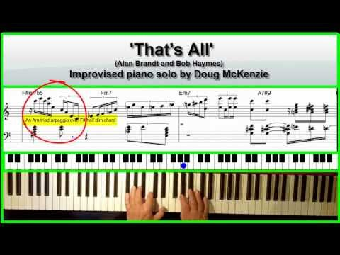 'That's All' - jazz piano tutorial