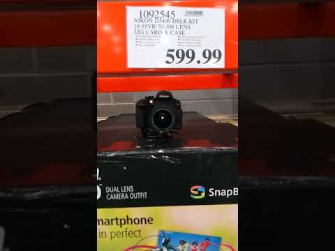Nikon D3400 DSLR Kit At Costco - YouTube