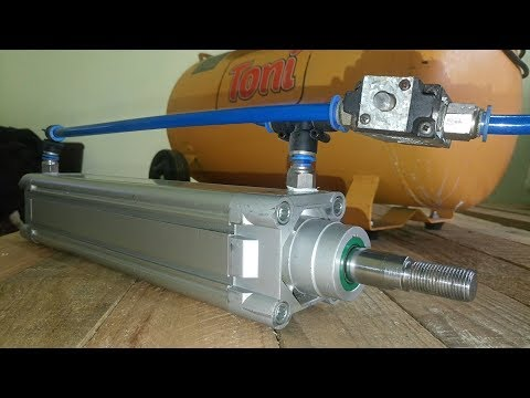 Pneumatic Basics - Air Compressor, Valve & Cylinder Speed Control (Part 1- Plastic Injector )