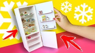 Refrigerator for dolls 💖 Furniture for Dollhouse 💖AnnaOriona