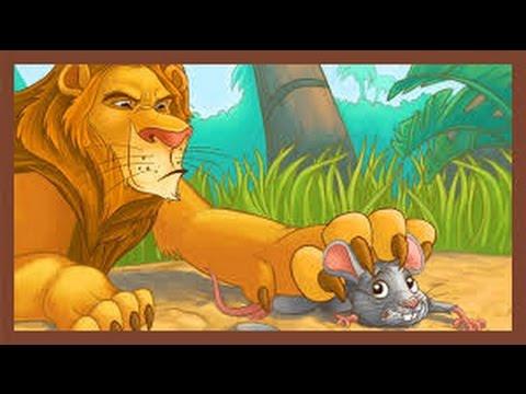 قصة الاسد و الفأر The Lion And The Mouse Story Arabic Youtube