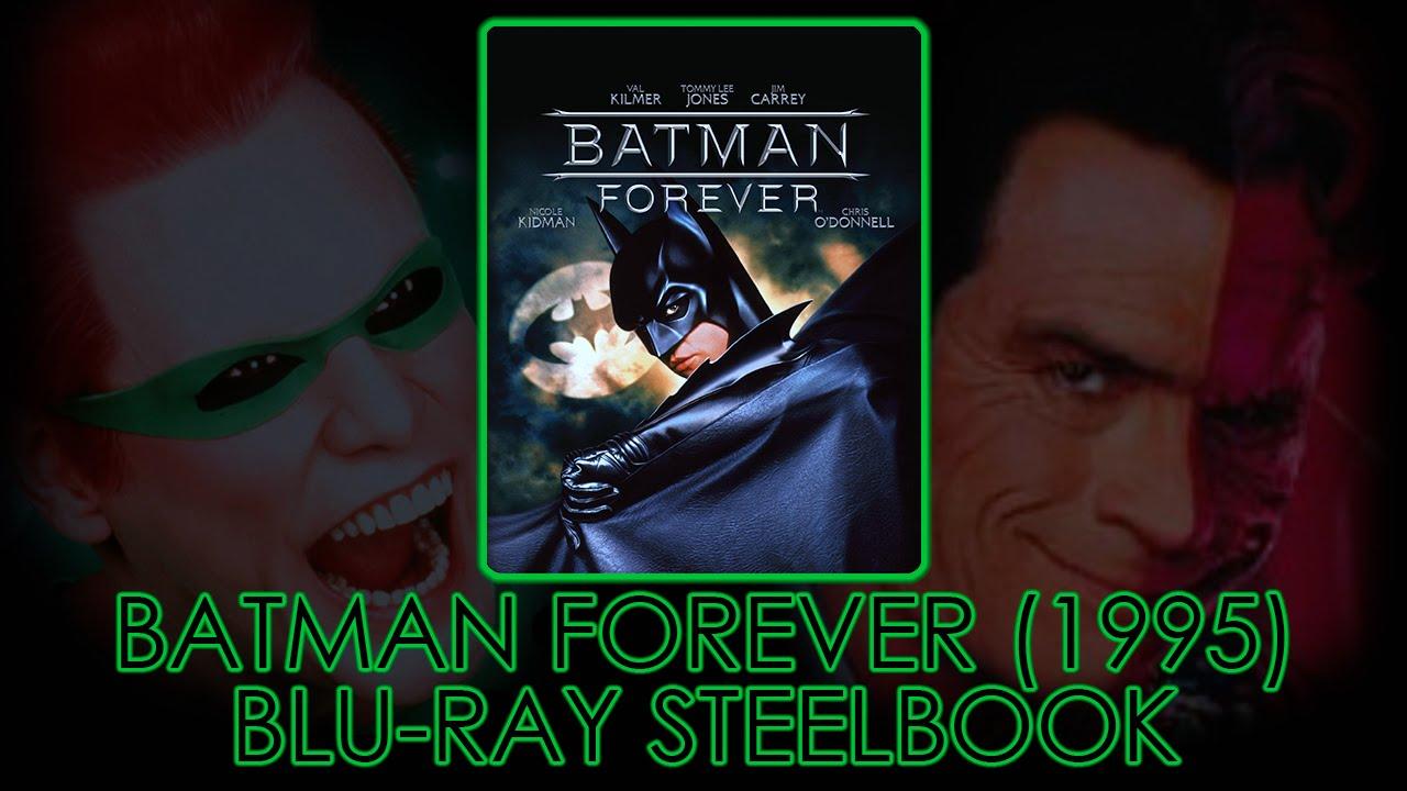 Download Batman Forever (1995) Blu-ray Steelbook   Val Kilmer   Jim Carrey   Nicole Kidman   Unboxing