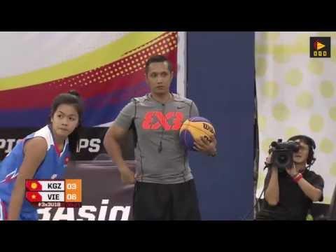 Kyrgyzstan vs Vietnam (WOMEN) - Malaysia 2016 FIBA 3x3 U18 Asian Championships (Day 1)
