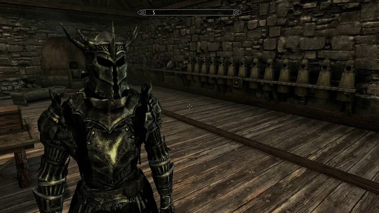 Skyrim Special Edition Mod Review Reaper Paladin Armor - YouTube