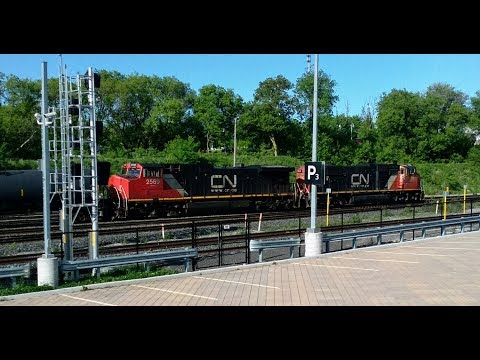 Great Rail History At CN Stuart In Hamilton, Ontario On June 3, 2019 (please Read Description)