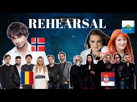 Eurovision 2018 Rehearsals - Norway, Romania, Serbia & San Marino (Press Center)
