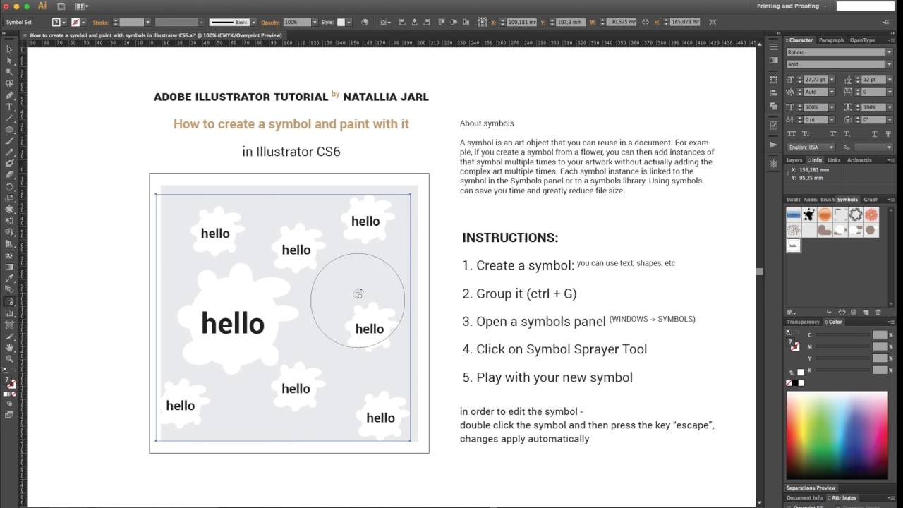 How to work with symbols in illustrator cs6 youtube how to work with symbols in illustrator cs6 biocorpaavc