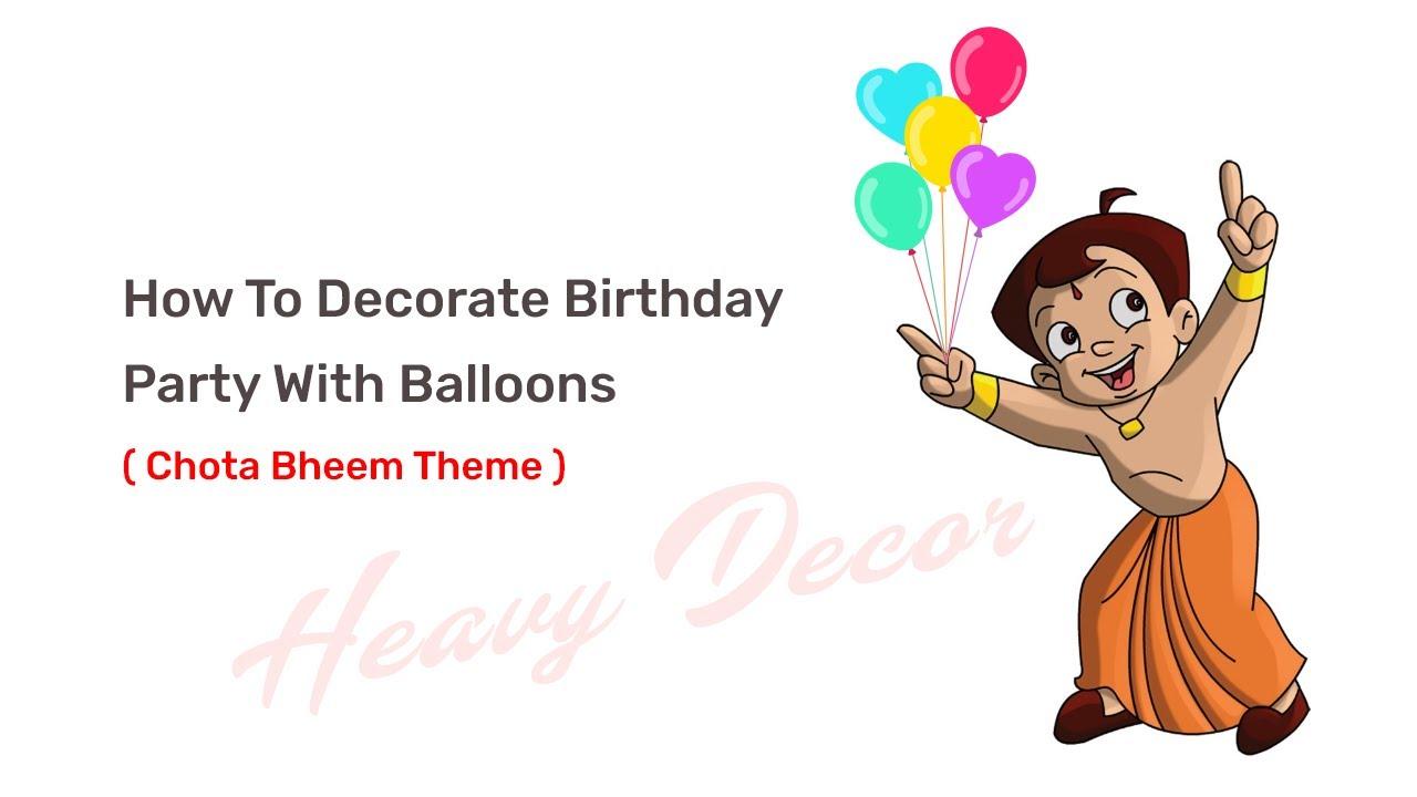 Heavy Decor Balloon Decoration In Karnal Chota Bheem Theme