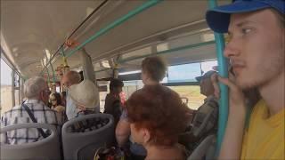 Подъезды к Крымскому мосту, эстакада. Вид из автобуса маршрута №5