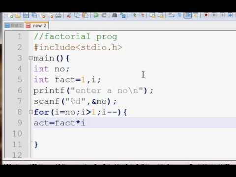 C Program For Finding Factorial Using Gcc