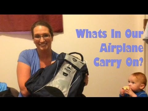 AIRPLANE CARRY ON WITH A BABY; TRAVELING WITH OUT 10 MONTH OLD
