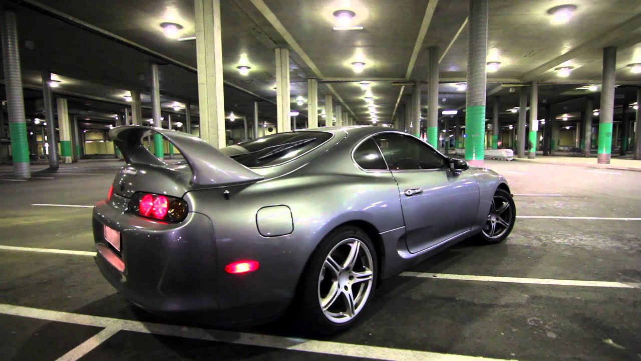 4k Wallpaper Muscle Car Toyota Supra Twin Turbo Exhaust Sound Youtube