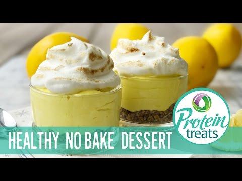 Lemon Dessert No Bake Weight Loss Recipe (Sugar-Free & Gluten-Free) Protein Treats By Nutracelle