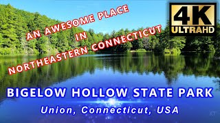 Bigelow Hollow State Park, Union, CT, 4K - bęst in Northern Connecticut, Boating, fishing, Hiking...