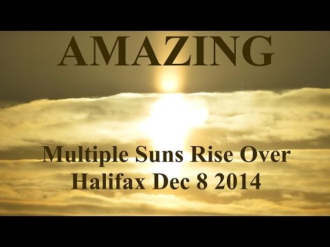 AMAZING PlanetX Nibiru Multiple Suns Rise Over Halifax Dec 08 2014