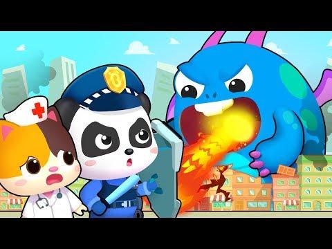 Download Hero Team vs Big Monster | Firefighter Song, Police Cartoon | Nursery Rhymes | Kids Songs | BabyBus Mp4 baru