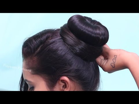 2-minute Elegant Bun Hairstyle ★ Easy Updo Hairstyles ★ How To Make Simple Hair Bun For Everyday Use