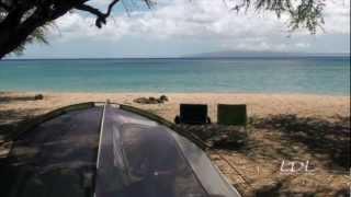 Maui camping at Papalaua Wayside Park.