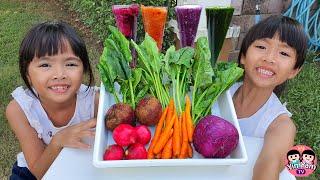หนูยิ้มหนูแย้ม   เรียนรู้สีที่เกิดจากผัก Kids Activities