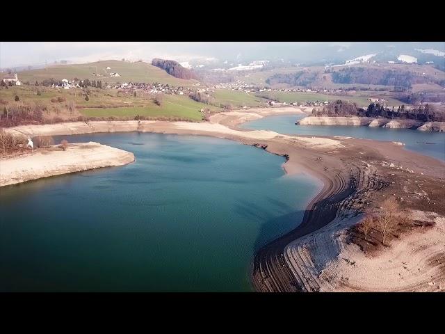 Ile d'Ogoz, lac vide | Mavicpro | 4K
