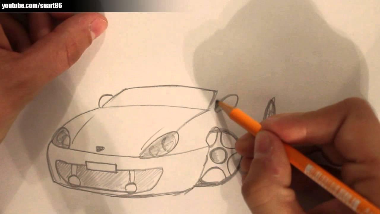 Wie zeichnet man ein auto - YouTube