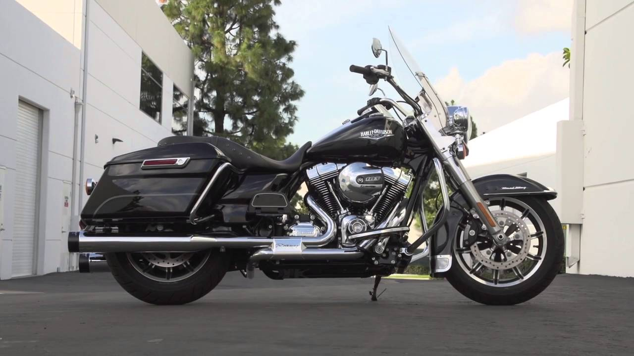 Rinehart Slimline Duals VS Stock 2016 Harley-Davidson Road King Exhaust