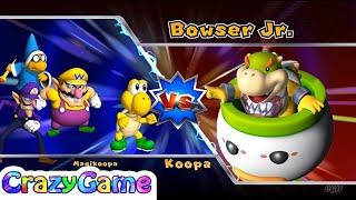 Mario Party 9 Bowser Station Party #48 Koopa vs. Kamek vs. Wario vs. Waluigi Gameplay