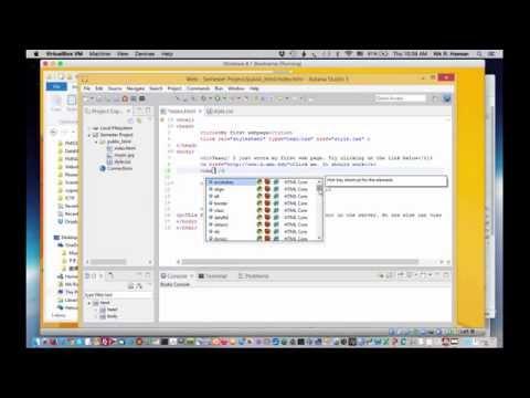 Aptana-05 Working with HTML and CSS