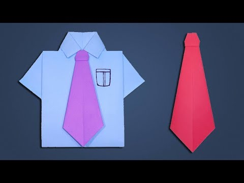 Paper Tie Making Tutorial - How to Make Origami Neck Tie | DIY Easy Paper Crafts