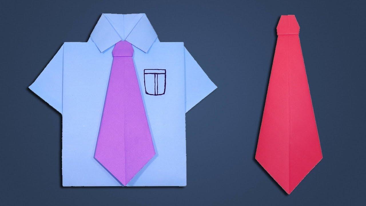paper tie making tutorial how to make origami neck tie diy easy