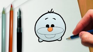 How to draw Olaf Disney Tsum Tsum version