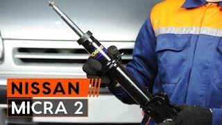 Kuinka vaihtaa etuiskunvaimentimet delanteros NISSAN MICRA 2 Hatchback -merkkiseen autoon