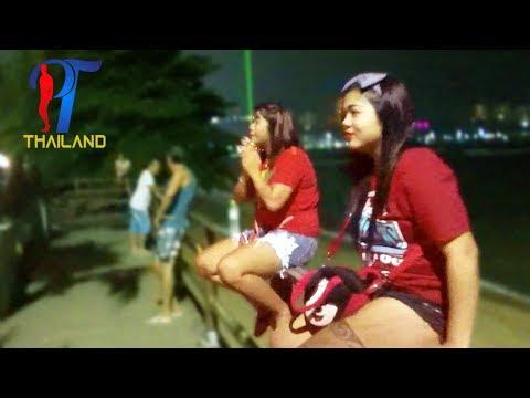 Night walk along the beach street, Pattaya Vlog 124